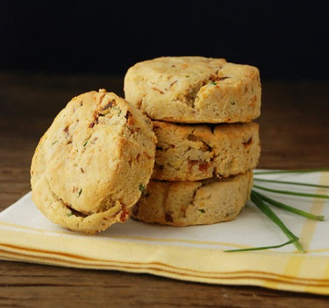 Bacon, Sundried Tomato & Chive Biscuits